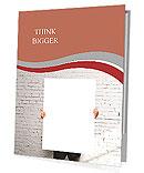 Businessman holding white blank poster Presentation Folder