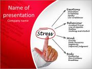 Diagram of stress consequences PowerPoint Templates