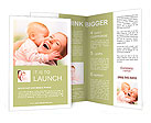 Happy cheerful family. Mother and baby kissing, laughing and hugging Brochure Templates