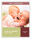 Happy cheerful family. Mother and baby kissing, laughing and hugging Word Templates