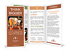 Glass of light beer on a dark pub. Brochure Templates
