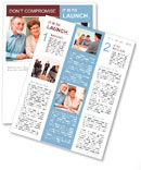 Senior couple discussing financial plan with consultant Newsletter Template