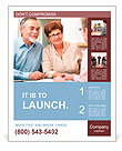 Senior couple discussing financial plan with consultant Poster Template