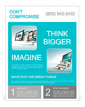 Web Design Concept Flyer Templates