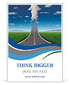 No limits success concept with a road or highway going forward fading into the sky with a group of c Ad Templates