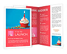 Birthday cupcake Brochure Templates