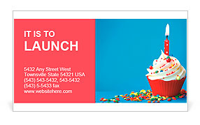 Birthday cupcake business card template design id 0000009600 birthday cupcake business card template accmission Image collections