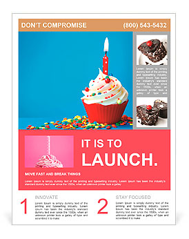 birthday cupcake flyer template design id 0000009600. Black Bedroom Furniture Sets. Home Design Ideas