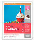 Birthday cupcake Poster Template