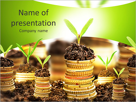 Golden coins in soil with young plant isolated money growth golden coins in soil with young plant isolated money growth concept powerpoint templates toneelgroepblik Gallery