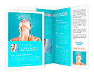 Woman beauty, young beautiful woman with water sparks Brochure Template