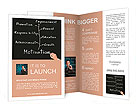 Business hand writing person or employee motivation concept Brochure Templates