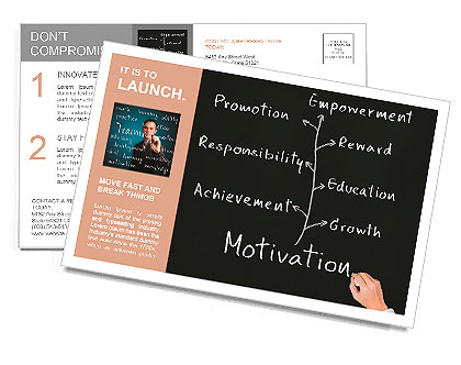 Business hand writing person or employee motivation concept postcard business hand writing person or employee motivation concept postcard template fbccfo Gallery