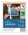 Businessman real estate concept Poster Template