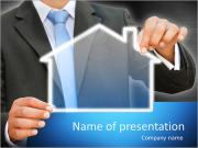 Businessman real estate concept PowerPoint Templates