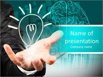 Ampoule de maintien de main d'affaires concept illustration de l'idée. Modèles des présentations  PowerPoint