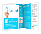 Hand and word internet - business concept Brochure Templates