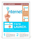 Hand and word internet - business concept Flyer Templates