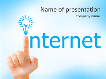 Hand and word internet - business concept PowerPoint Template