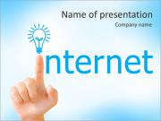 Hand and word internet - business concept PowerPoint Templates