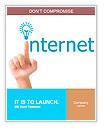 Hand and word internet - business concept Word Templates