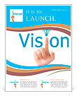 Hand and word vision. - business concept isolated on white background Flyer Templates