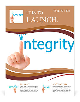 Hand and word integrity. - business concept isolated on white ...