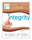 Hand and word integrity. - business concept isolated on white background Flyer Templates
