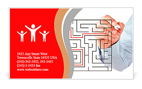 Finding the solution Business Card Template