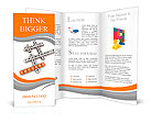 Job strategy crossword (cubes crossword series) Brochure Templates