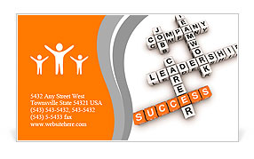 Job strategy crossword (cubes crossword series) Business Card Template