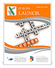 Job strategy crossword (cubes crossword series) Flyer Template