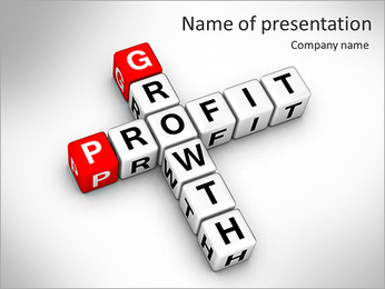Growth and profit crossword PowerPoint Template