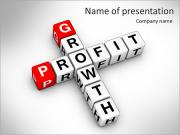 Growth and profit crossword PowerPoint Templates