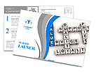 Business organization basis crossword Postcard Template