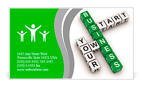 Start your own business Business Card Template