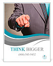 Businessman in suit and tie pointing the finger in front of himself Poster Template