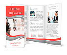 Professional business woman with a networking concept of friends and colleagues. Brochure Templates
