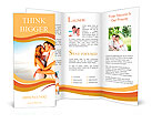 Newlywed couple kissing on honeymoon, beach vacation in summer and an intimate moment. Brochure Templates
