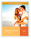 Newlywed couple kissing on honeymoon, beach vacation in summer and an intimate moment. Word Templates