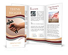 Squeezed - A businessman being squeezed Brochure Templates