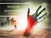 Zombie Rising. A hand rising from the ground! PowerPoint Templates