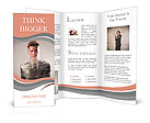Young businessman packed in plastic wrap Brochure Templates