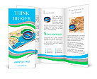 GPS navigation, tourism and travel route planning concept: color city map and blue magnetic compass Brochure Templates