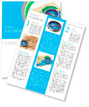 GPS navigation, tourism and travel route planning concept: color city map and blue magnetic compass Newsletter Template
