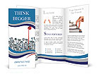 Communications leader concept with a red bullhorn or megaphone rising above the rest of the group of Brochure Template