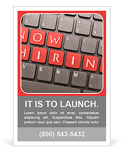 Now Hiring On Keyboard Ad Template Design ID - Hiring ads templates