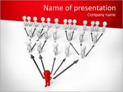 3d small people standing numbers as a pyramid. 3d image. Isolated white background. PowerPoint Templates