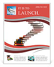 Graduation cap on the top of the stairs made of books - diploma 3d concept Flyer Template