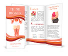 Large woman on a scale - diet concept Brochure Template